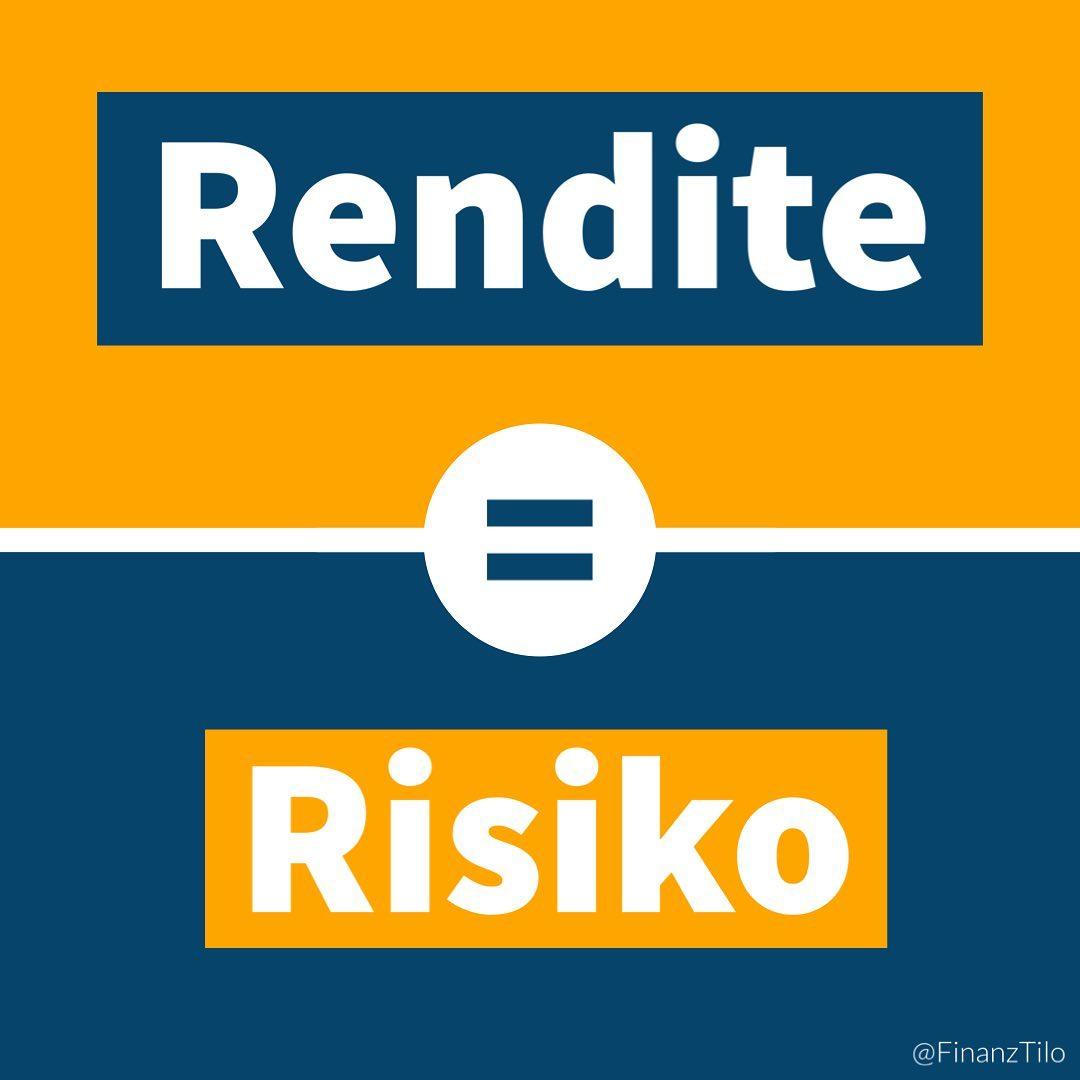 """Risiko und Rendite sind untrennbar miteinander verbunden! ~ """"Je höher die erwartete Rendite eines Investments…"""