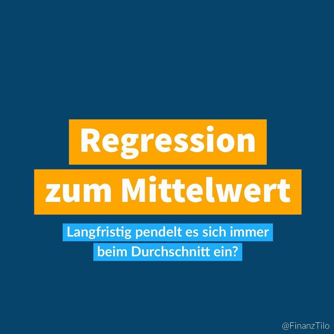 """Die """"Regression zum Mittelwert"""" (RzM) (eigentlich ein Begriff aus der Theorie der Statistik) hat für…"""